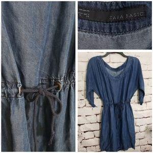Zara Basic Chambray Dress